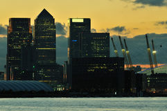 London business district at dusk Royalty Free Stock Photography