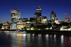 London business district by night Royalty Free Stock Image