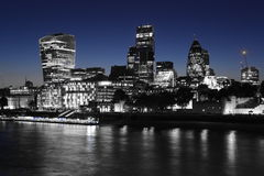 London business district by night Royalty Free Stock Photos