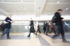 London businessman train tube station in rush hour Stock Photos