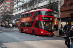 London - Busy Oxford street in Christmas period Stock Images