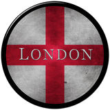 London button. Graphic with the flag of england and the letters of london Stock Photography