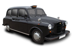 London Cab. A Black London Cab  on White Stock Images