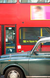 London cab and double decker bus Stock Image