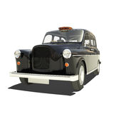 London Cab Isolated. On white vector illustration