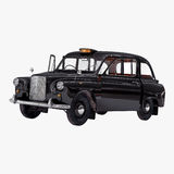 London cab isolated on white 3D illustration Royalty Free Stock Images