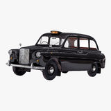 London cab isolated on white 3D illustration Royalty Free Stock Photos