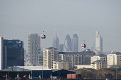 London Cable Cars Royalty Free Stock Photos