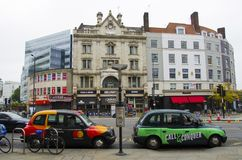 London cabs. Cabs in london, united kingdom Stock Photography