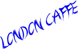 London Caffe sign Royalty Free Stock Image