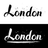 London calligraphy hand-drawn vector signs Stock Photography