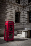 London Calls. An iconic red London telephone booth Royalty Free Stock Image
