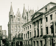 London Camden Town Hall With St Pancras Renaissance Hotel royalty free stock photos