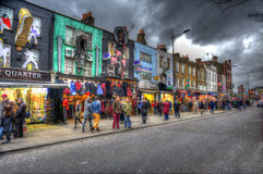 London. Camden Town is one of London's most famous neighborhoods Stock Image
