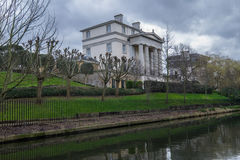London Canal Mansion Stock Photo