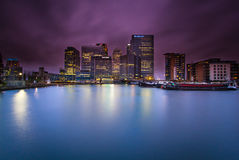 London. Canary Wharf London Docklands east London  Bank city view Stock Photography