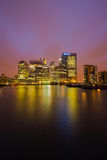 London. Canary Wharf London Docklands east London  Bank city view Stock Image