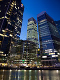 LONDON, CANARY WHARF GROSSBRITANNIEN Stockbilder