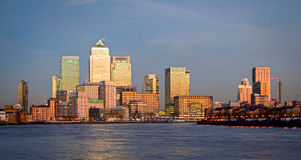 London, Canary Wharf at twilight Stock Photography