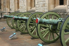 London Cannon Stock Photography