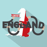 London The Capital City Of England Typography Design. Stock Photography