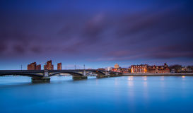 London. Capital of England Battersea Bridge Thames River Royalty Free Stock Photography