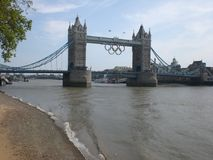 London. Capital of England 2012 Olympic Game, tower Bridge, river thames Stock Images