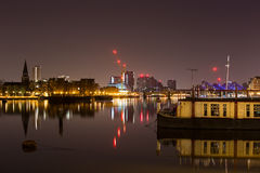 London. Capital of England Thames river view night photography Stock Images