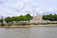 London Castle and Thames river Stock Photo
