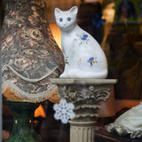 London.Cat. Portobello Road Market . London.Cat Royalty Free Stock Photo