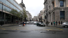 London. Central road. London. England. United Kingdom. The main road of the capital stock video footage