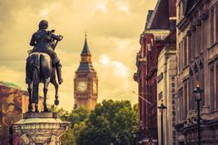 London Charles I Statue Royalty Free Stock Photos