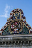 London Chatway and Dover Railway at Blackfriars Bridge and station Royalty Free Stock Photo