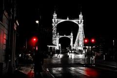 London - Chelsea bridge Stock Photography