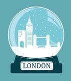 London christmas glass ball. Stock Images