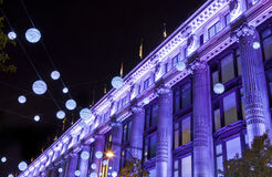 London Christmas Lights on Oxford Street. The London Christmas lights on Oxford Street Stock Photography