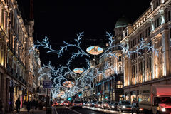 London Christmas lights Royalty Free Stock Images