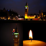 London Christmas and New Year collage Royalty Free Stock Photos