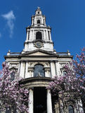 London Church. A pretty little historic church, in downtown London, England Stock Photography
