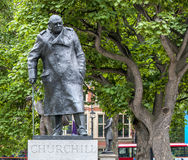 London Churchill Statue. On St.-Margaret street Royalty Free Stock Images