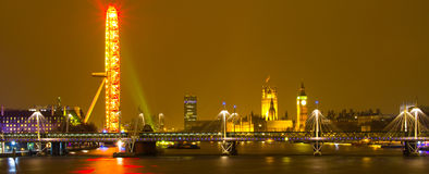 London City. This is a true London City image. it includes all major landmarks of London Royalty Free Stock Photos