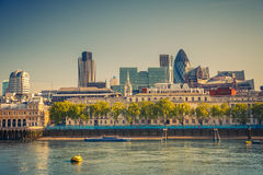 London City. Skyline from Thames Stock Photography