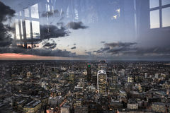 London City from above, view from the Shard Stock Photos