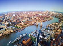 London city, aerial view. United Kingdom royalty free stock image