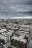 London city aerial view over skyline with dramatic sky and landm Stock Images