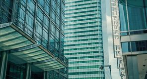 London city banks office glass buildings stock photography