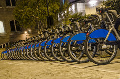 London City Bike Rental Stock Photo