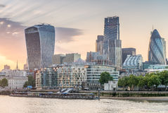 London. City buildings along river Thames Royalty Free Stock Photography