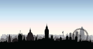 London city buildings silhouette. English urban landscape. Londo Stock Image