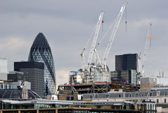 London City Business District Skyline. 30 St Mary Axe Royalty Free Stock Photography